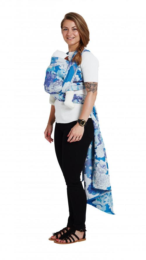 Blue Floral Jacquard