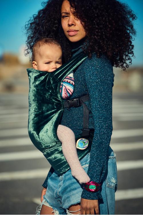 Artipoppe Zeitgeist Baby Carrier - Grey Green Velvet